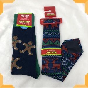 Christmas Tie and Sock Gift Bundle Set Men's
